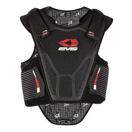 Black, Red Evs Mens Sport Protection Vest 2013 Black Red