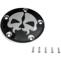 Drag Specialties Skull Points Cover Each For Harley Black Chrome 0940-1613 Black