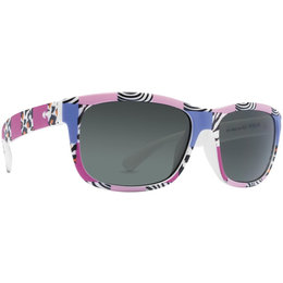Pink Zebra/retro Grey Dot Dash Youth Lil Rippers Collection Lil Poseur Sunglasses Pnk Zebra Retro Grey