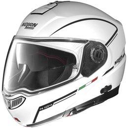 Metal White, Black Nolan N104evo N-104 Evo Storm Modular Helmet Metal White Black