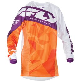 Fly Racing Mens MX Offroad Kinetic Crux Jersey Orange