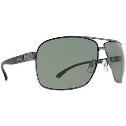 Charcoal/grey Chrome Dot Dash Metal Shop Collection Logique Sunglasses Charcoal Grey Chrome