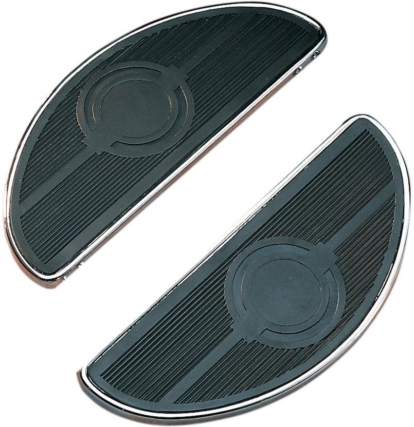 Black Harley Davidson Half-Moon Floorboards