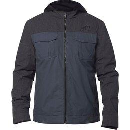 Fox Racing Mens Straightaway Weight Hooded Canvas Jacket Grey