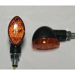 Carbon Bodies, Amber Lenses Dmp Led Marker Lights Mid Oval Carbon Amber