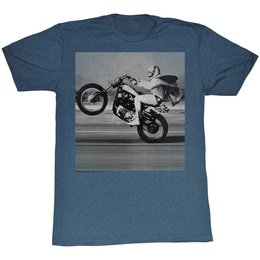 Evel Wheelie T-Shirt 2014 Blue