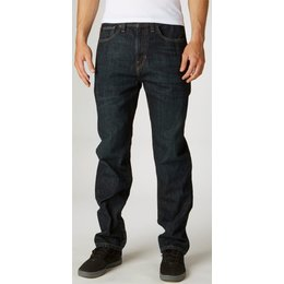 Fox Racing Mens Garage Relaxed Fit Denim Jeans Blue