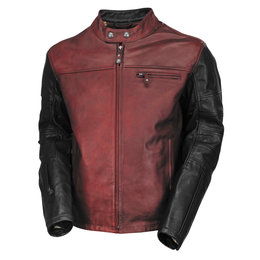 RSD Mens Ronin Leather Riding Jacket Red