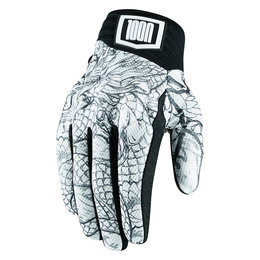 Icon Mens 1000 Collection Luckytime Mesh Street Riding Gloves White