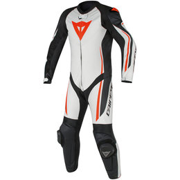 Dainese Mens Assen 1 Piece Perforated Leather Suit White