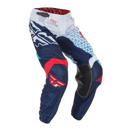 Fly Racing Mens Kinetic Mesh Trifecta Pants White