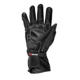 Black, White Evs Mens Misano Leather Gloves 2013 Black White