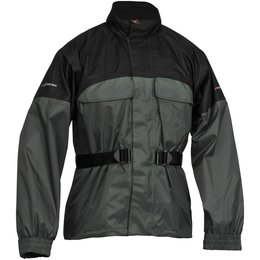 Black, Silver Firstgear Rainman Waterproof Rain Jacket 2013 Black Silver