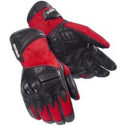Red Cortech Gx Air 3 Textile Leather Gloves