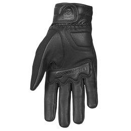 Highway 21 Mens Silencer Leather Gloves Black