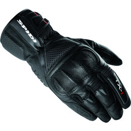 Black Spidi Sport Mens Tx-1 Leather Gloves 2013