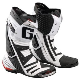 White Gaerne Gp-1 Road Racing Boots Us 8