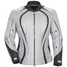 Silver, Black Cortech Womens Lrx Series 3 Textile Jacket Silver Black