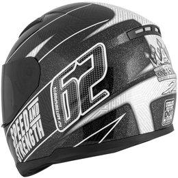 Black Speed & Strength Ss110 62 Motorsports Full Face Helmet 2013
