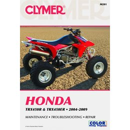 Clymer Manual For Honda 2004-2009 TRX450R TRX450ER M201 Unpainted