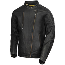 RSD Mens Clash Leather Jacket Black