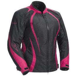 Black, Pink Cortech Womens Lrx Series 3 Textile Jacket Black Pink