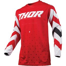 Thor Youth Boys Pulse Stunner Jersey Red