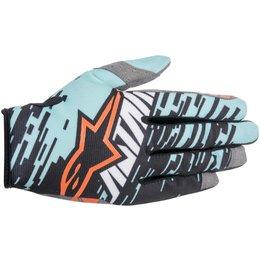 Alpinestars Mens Racer Braap Textile Gloves Turquoise
