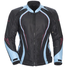 Black, Light Blue Cortech Womens Lrx Series 3 Textile Jacket Black Light Blue