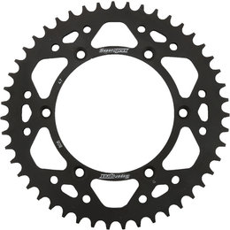 Supersprox Steel Rear Sprocket 47T Kawasaki KLX400R Suzuki Black RFE-808-47-BLK Black