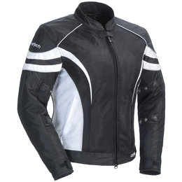 Black, White Cortech Womens Lrx Air 2 Mesh Jacket Black White
