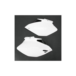 UFO Plastics Side Panels White For Yamaha YZ 250F 450F 06-09