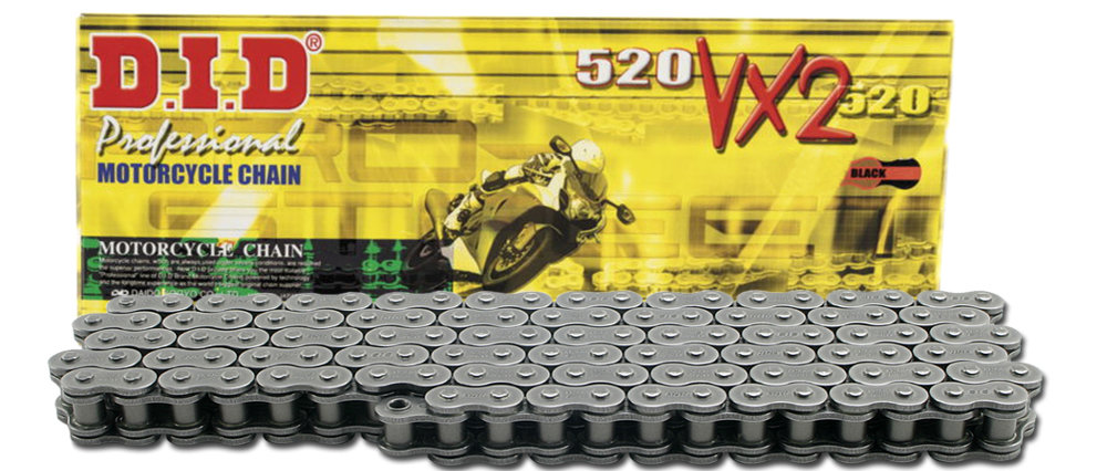 Chain Type: 520 114 Links Color: Natural Chain Length: 114 Chain Application: All 520 x 114 D.I.D 520 Standard Series Chain