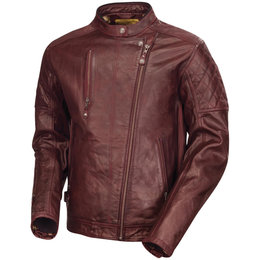 RSD Mens Clash Leather Jacket Red