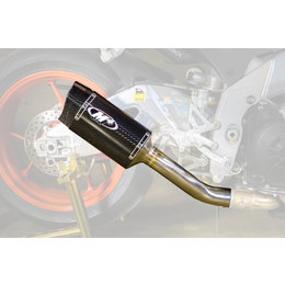 M4 Tech One Slip-On Exhaust For Aprillia RSV4 Tuono Carbon Fiber AP9004