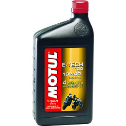 Motul E-Tech 100 Full Synthetic 4-Stroke Engine Oil 10W-40 1 Quart
