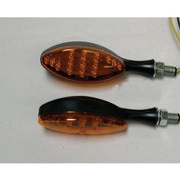 Black Bodies, Amber Lenses Dmp Led Marker Lights Oval Black Amber