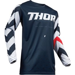 Thor Youth Boys Pulse Stunner Jersey Blue