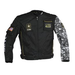 Black Camo Power Trip Army Alpha Jacket