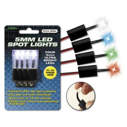 White Street Fx 12v Led Spot Lights 5mm Peel And Stick