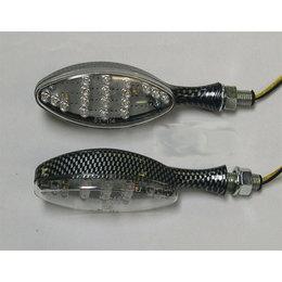 Carbon Bodies, Clear Lenses Dmp Led Marker Lights Oval Carbon Clear