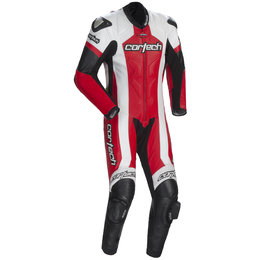 Red, White Cortech Adrenaline Rr One Piece Leather Suit Red White