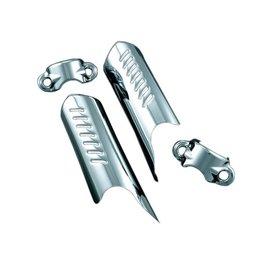 Kuryakyn Deflector Shields For Lower Fork Legs Chrome For Harley FLST FXDWG FXST
