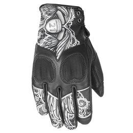 Highway 21 Womens Vixen Leather Gloves Black