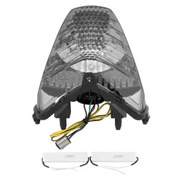 Bikemaster Integrated LED Tail Light Smoke Lens For Honda TZH-314-INT-S Grey