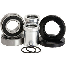 Pivot Works Waterproof Front Wheel Collar/Bearing Kit For Kawasaki PWFWC-K02-500 Silver