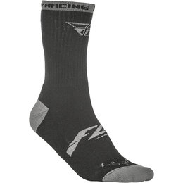 Fly Racing Mens Pro Lite Crew Socks Black