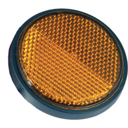 Amber Chris Products Round Reflector 2-1 2 Inch Adhesive Mounted