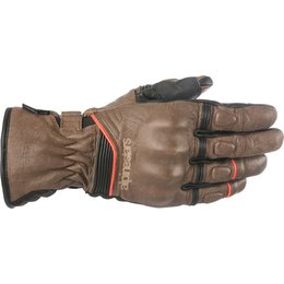 Alpinestars Mens Cafe Divine Drystar CE Leather Gloves Brown