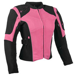 Speed & Strength Womens Comin' In Hot Textile Motorcycle Jacket Pink